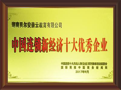 2017年中国连锁新经济十大优秀企业