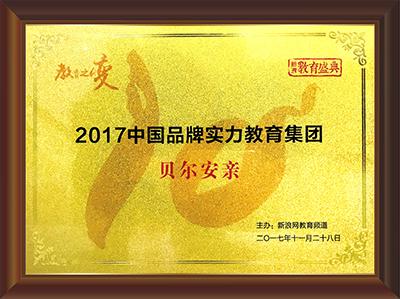 """荣获新浪""""2017中国品牌实力教育集团"""""""