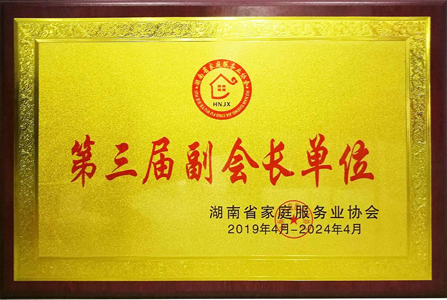 湖南省家庭服务业协会第三届副会长单位