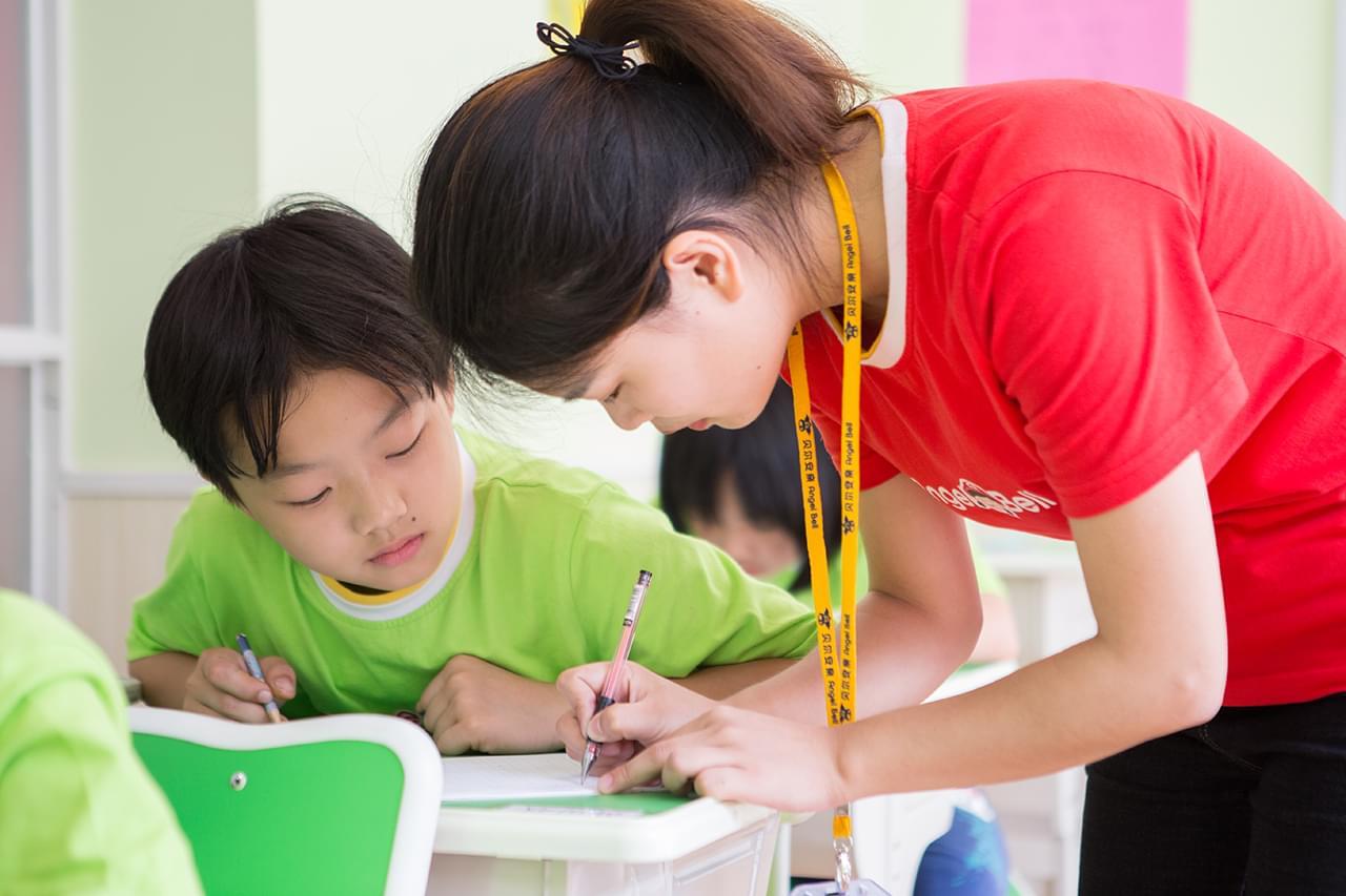 孩子的进步是贝尔安亲前进的动力